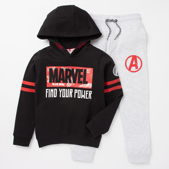 Marvel Avengers Print Sweatshirt and Jog Pants Set