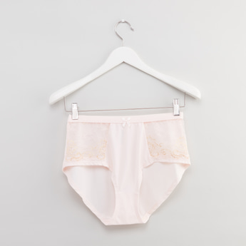 Lace Detail Full Briefs with Elasticised Waistband