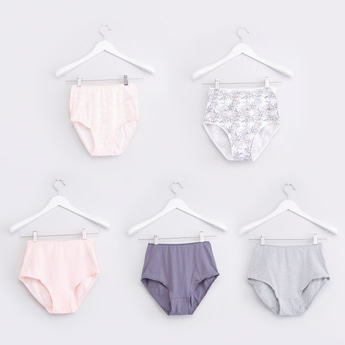 Set of 5 - Assorted Full Briefs with Elasticised Waistband