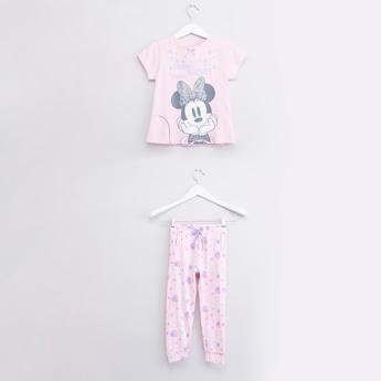 Minnie Mouse Printed T-shirt and Pyjama Set