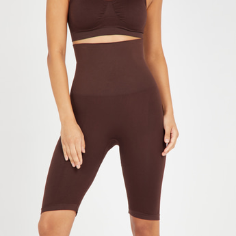 Textured Shaping Leggings with Elasticated Waistband