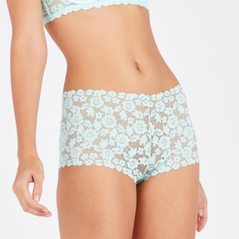 Lace Detail Boyleg Briefs