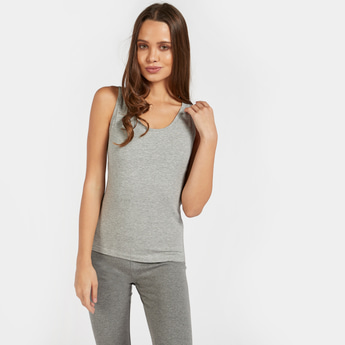 Solid Shaping Camisole with Scoop Neck