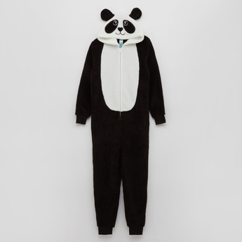 Cozy Collection Hooded Panda Themed Onesie