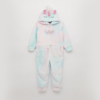 Cozy Collection Textured Unicorn Sleepsuit with Long Sleeves
