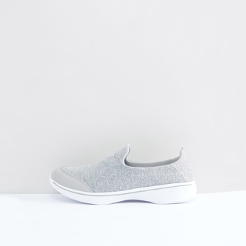 Melange Printed Slip-On Shoes with Stitch Detail