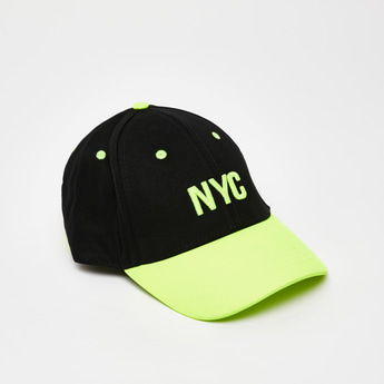 Textured Baseball Cap with Adjustable Strap
