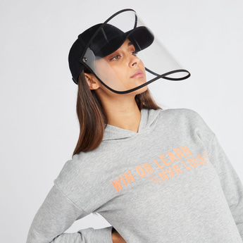 Textured Cap with Face Shield