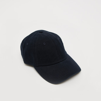 Solid Cap with Strap Buckle Closure