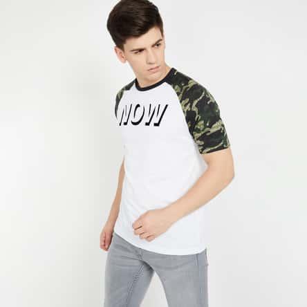 SMILEYWORLD Typography Print Regular Fit T-shirt