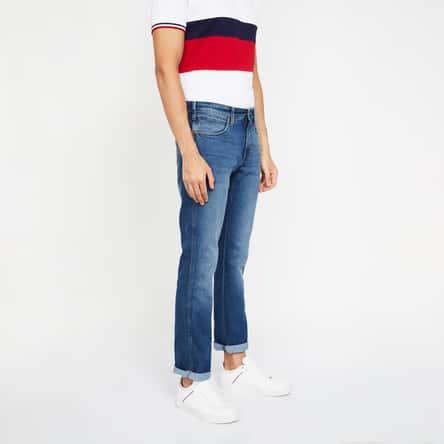 WRANGLER Stonewashed Slim Fit Jeans