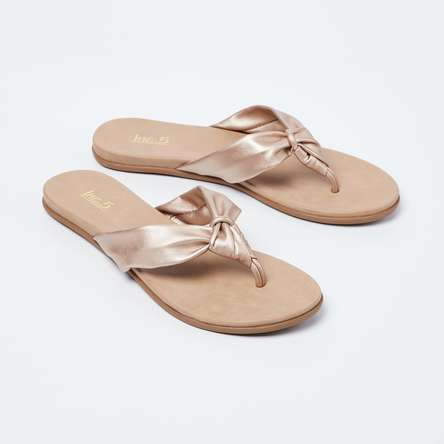 INC.5 Flat Sandals with Knotted Straps