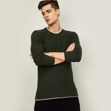 BOSSINI Men Full Sleeves Round Neck T-Shirt