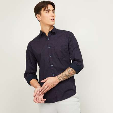 CODE Men Full Sleeves Slim Fit Casual Shirt
