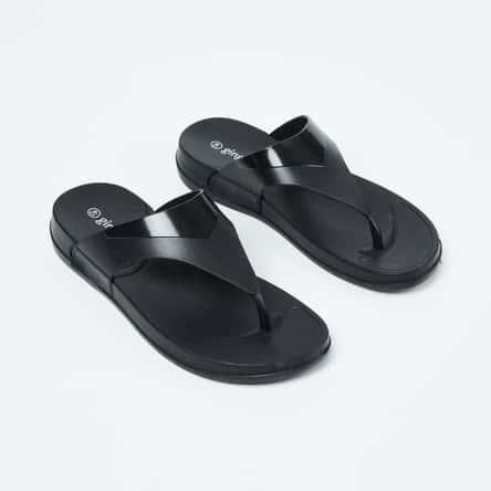 GINGER Panelled T-strap Sandals