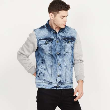 BOSSINI Stonewashed Denim Jacket