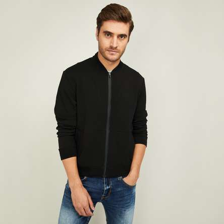 FAME FOREVER Men Solid Zip-Front Jacket
