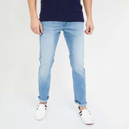FLYING MACHINE Michael Lightly Washed Slim Tapered Jeans