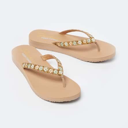 SKECHERS Meditation Embellished Slippers