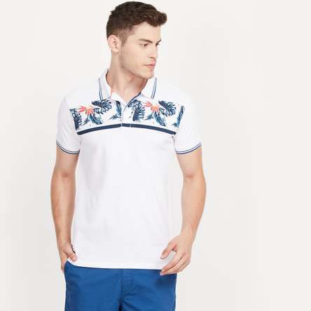 PEPE JEANS Printed Regular Fit Polo T-shirt