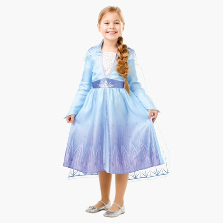 Frozen 2 Elsa Costume Dress with Organza Glitter Cape
