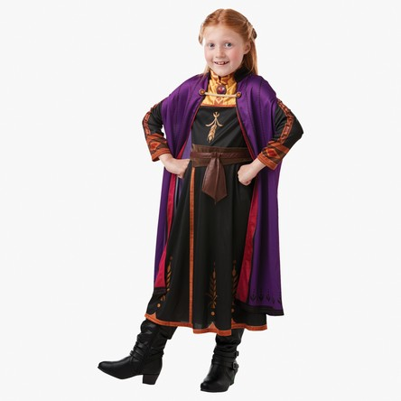 Frozen Anna Costume Dress with Jersey Cloak