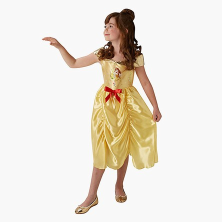 Belle Costume Dress with Ruffle and Bow Detail