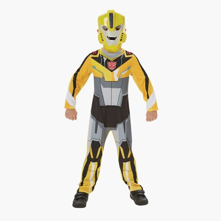 Bumblebee Print Classic Jumpsuit with Mask