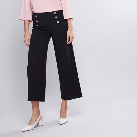 Plain Culottes with Elasticised Waistband