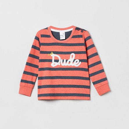 MAX Striped T-shirt with Full Sleeves