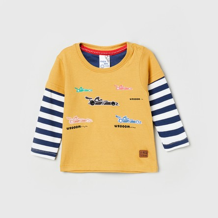 MAX Printed Crew Neck Full Sleeves T-shirt