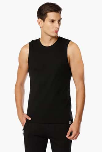 JOCKEY Solid Sleeveless T-Shirt