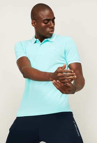 KAPPA Men Solid Short Sleeves Polo T-shirt