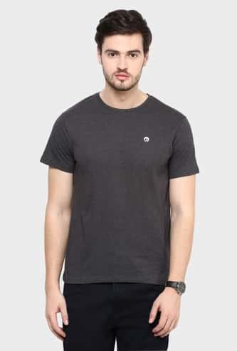 BOSSINI Solid Crew Neck T-Shirt