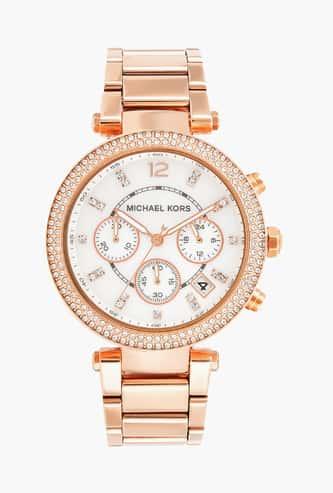 MICHAEL KORS Women Chronograph Watch with Metal Strap - MK5491I