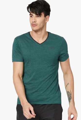KAPPA Melange Regular Fit V-neck T-shirt