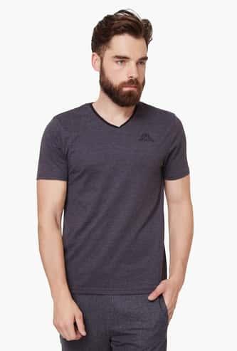 KAPPA Textured V-Neck T-Shirt