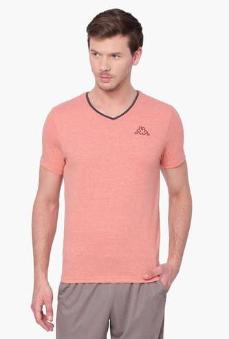 KAPPA Solid V-Neck T-Shirt