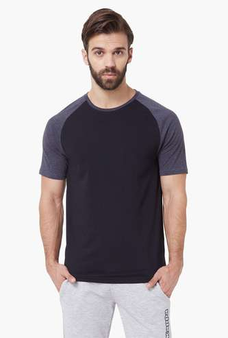 KAPPA Solid Raglan Sleeves T-Shirt