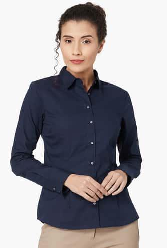 VAN HEUSEN Solid Collared Formal Shirt