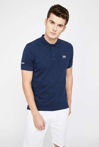 UCLA Regular Fit Solid Polo T-shirt