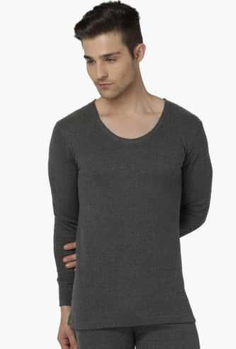 CHROMOZOME Rib Knit Full Sleeves Thermal T-Shirt