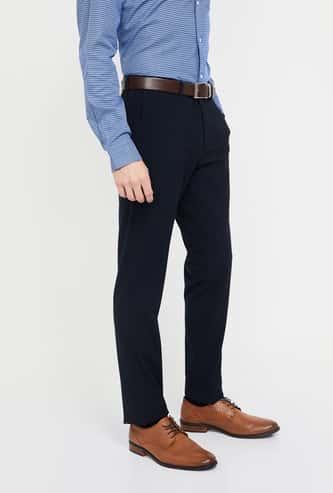 BLACKBERRYS Solid Low Rise Slim Fit Trousers