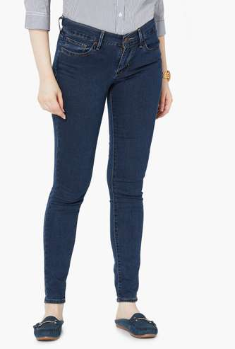 LEVI'S Solid Low-Rise Skinny Fit Jeans