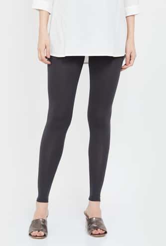 MELANGE Solid Elasticated Leggings