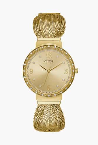 GUESS Women Crystal Encrusted Metal Strap Watch - W1083L2-101018