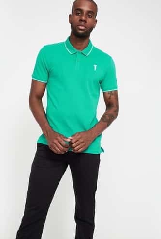 BOSSINI Solid Polo T-shirt