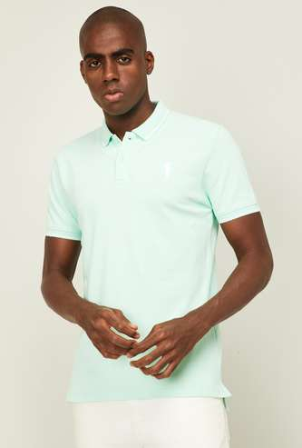 BOSSINI Men Solid Regular Fit Polo T-shirt
