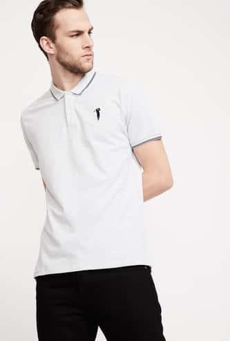 BOSSINI Men Solid Polo T-shirt