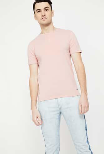 BOSSINI Men Short Sleeve Henley T-shirt